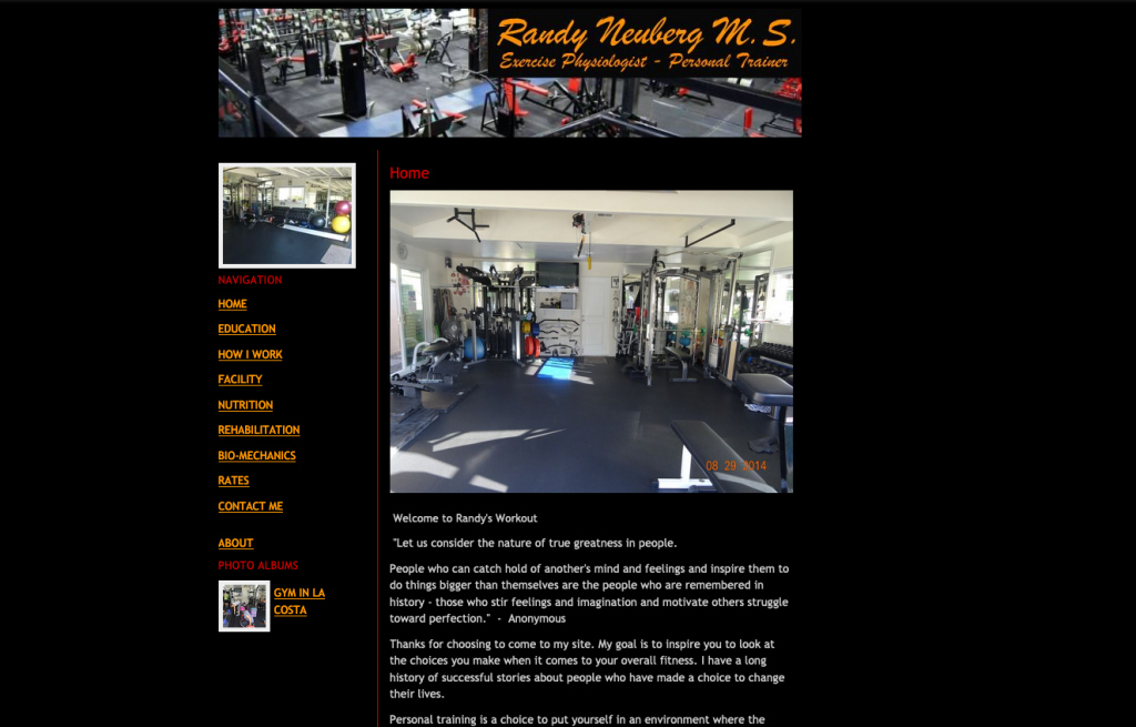 RandysWorkout.com - Before